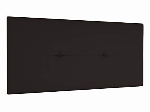 Cabecero de cama tapizado acolchado juvenil Julie 115 x 55 cms. Para camas de 80, 90 y 105 cms. Polipiel color Marrón chocolate. Incluye herrajes para colgar con regulador de altura