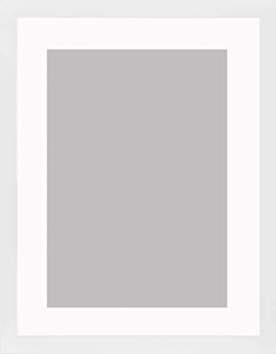 Bilderrahmen Morena 40 x 55 cm mit Passepartout passend für Bild 30 x 45 cm Rahmenfarbe: Weiß...