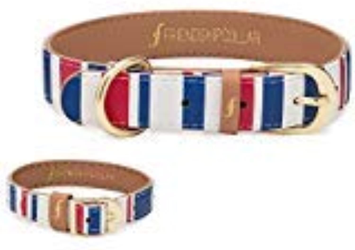 Nautical Pup Friendship Collar & Bracelet (S)