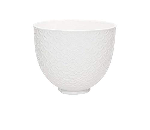 KitchenAid Ceramic Bowl Mermaid lace White 5KSM2CB5TWM Keramikschale, Meerjungfrau-Spitze, Weiß