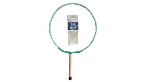 Seifenblasen Ring (20cm) + Pulver für 5L Seifenblasenflüssigkeit Kidzmedia