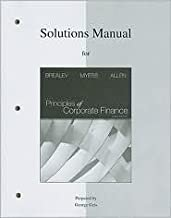Solutions Manual to Accompany Principles of Corporate Finance 10th (tenth) edition Text Only