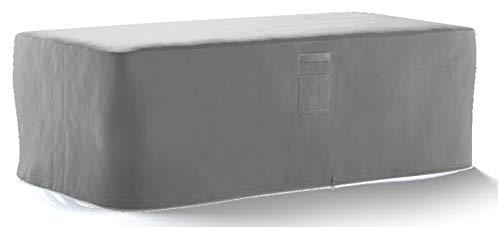 HBCOLLECTION® Housse Haute résistance 500D pour Table Salon de Jardin Gris (210x110 H80cm)