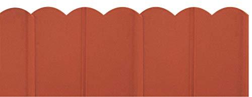 VERDEMAX 3409150x 175mm 3m Bordo Ornamentale, Colore: Marrone/Terracotta (20Pezzi)