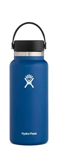 Hydro Flask Trinkflasche, Edelstahl und vakuumisoliert, große Öffnung mit auslaufsicherer Flex Cap, Cobalt, 946ml (32oz)