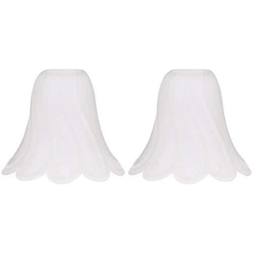 miwaimao Cristal ligero con forma de campana para la sombra del techo, ventilador, lámpara de pared, lámpara de sombra de vela de repuesto para salón