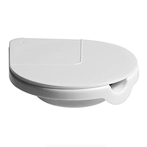 携帯用ステンレス鋼灰、目に見えないタバコのバットホルダー、穿孔フリーの防風灰皿、灰収納ラック (Color : White)
