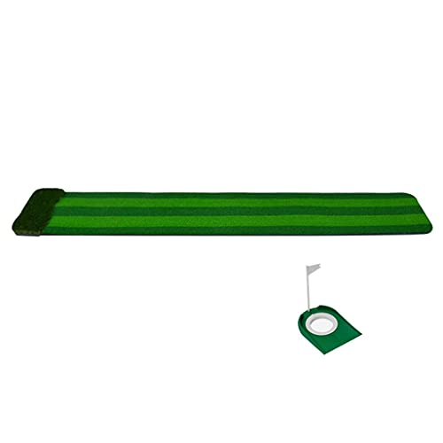 N&G Accesorios para la Sala de Estar Alfombrilla de Golf Plegable multicanal simulación Putter ejercitador Pad + Copa de Agujero/Retorno automático de la Bola