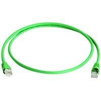 Telegärtner Patch-Kabel (Cat. 7, F-STP LSZH 0,5 m) grün