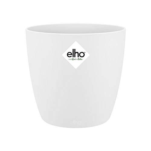 Elho Brussels Rond Mini 9,5 - Pot De Fleurs - Blanc - Intérieur - Ø 10.2 x H 8.7 cm