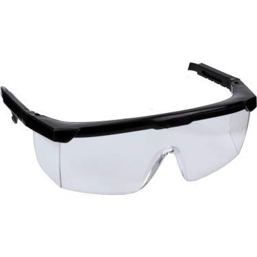 DORATEX Schutzbrille DIN EN 166-F, Brille, Bügel sind 2 cm längenverstellbar mit Frontschutz, Seitenschutz, seitlich geschlossene Kunststoffgläser
