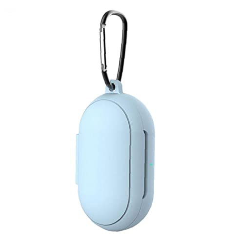 Beschermhoes Competible met Samsung Galaxy Buds + Plus, Silicone Cover Cover met Sleutelhanger Sky Blue