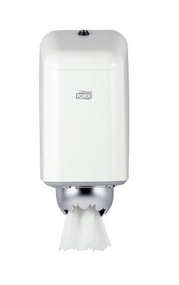 Tork 200040 Mini Centerfeed-Reinigungspapierspender Metall weiß M1
