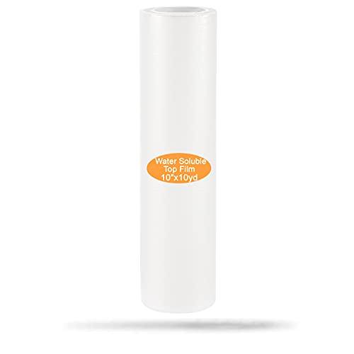 New brothread 25 Micrones Transparente Wash Away estabilizador película de soluble en agua Estabilizador de bordado - 10  x10 Yd Rollo