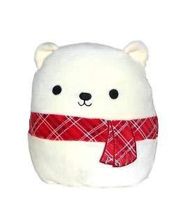 Squishmallow Kellytoy Christmas Squad 8 Inch Brooke The Polar Bear- Super Soft Plush Toy Animal Pillow Pal Buddy Holiday Stocking Stuffer