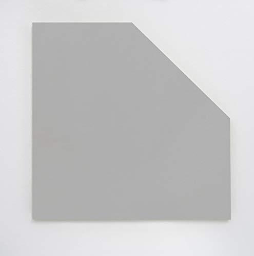 Möbelpartner Manni Eckplatte, lichtgrau, ca. 65,0 x 65,0 x 2,2 cm