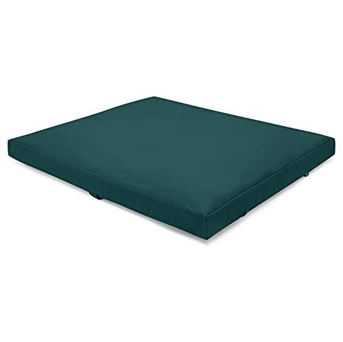 Present Mind Zabuton Yoga y Meditación (Color: Verde Esmeralda) - Colchoneta Plegable (70...