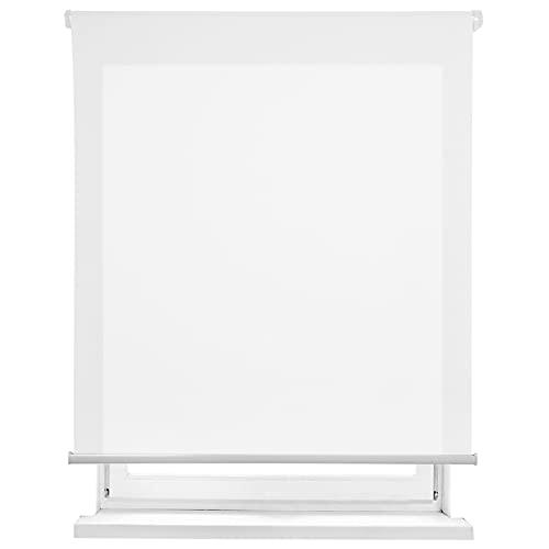 Estor Enrollable translúcido Liso (Blanco, 135x180cm)