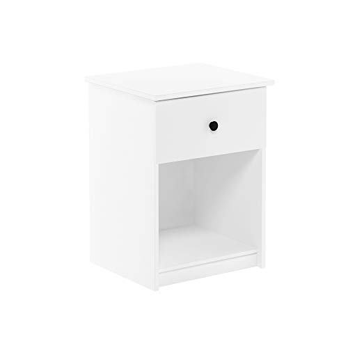 FURINNO Lucca Nightstand, 2-Pack, White
