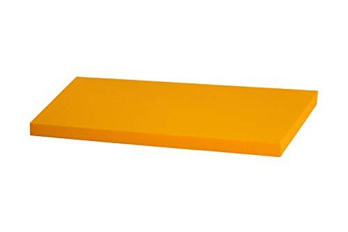 Superelch Sitzauflage f. IKEA Stuva Banktruhe Bankauflage Sitzpolster Sitzbank-Auflage/Auflage für Truhe als Sitzbank, unempfindlicher Baumwollbezug, Farbe gelb Sonnengelb