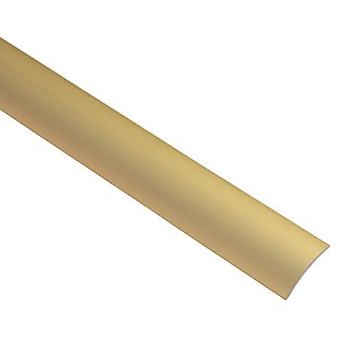 Gedotec Perfil de transición para laminado de vinilo, autoadhesivo, arqueado, fabricado en Alemania, aluminio y latón anodizado, perfil de 30 x 2000 mm, 1 unidad, perfil de compensación de aluminio