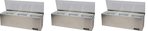 Purchase San Jamar B6183L EZ-Chill Stainless Steel Garnish Center with 1qt Inserts, 18 Width x 5-7/...