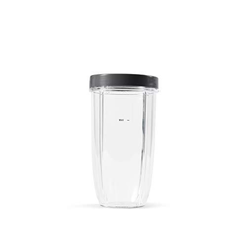 NutriBullet Colossal Cup mit Standard-Lippenring, 907 ml, transparent/grau