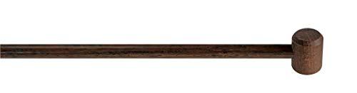 GARESA Gardinenstangen, Holz, Nuss, 120 cm