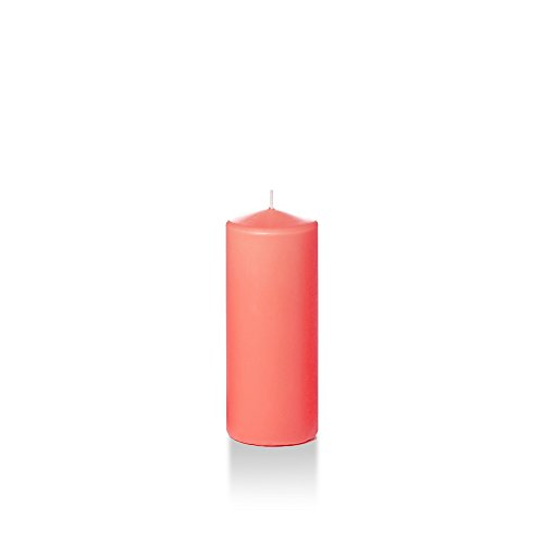 Yummi 2.25' x 5' Coral Slim Pillar Candles - 16 candles - 35 Hours