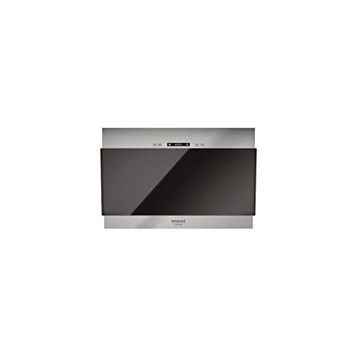 Hotpoint hhvp6.4fllk hotte décorative - 384 m3 air/h Max - 63 DB Max - 3 Vitesses - l 60 cm - INOX + Verre Noir