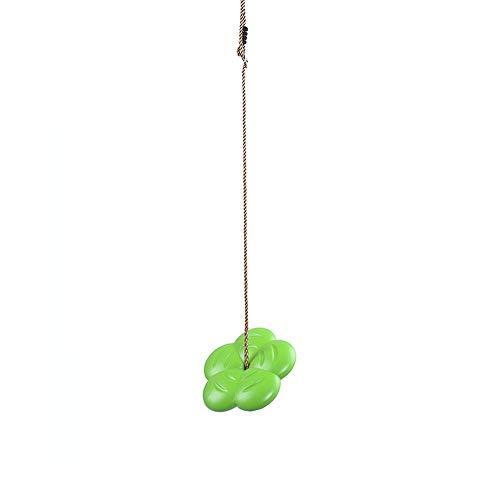 Yamyannie Columpio para Niños Los niños de plástico Asiento de Columpio Kit Columpio Que cuelga de Cubierta al Aire Libre Fácil Instalación para Exterior (Color : Verde, Size : Free Size)