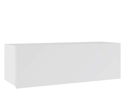 Mirjan24 Hängeschrank Calabrini BR02, Schrank für Wohnzimmer, Wandschrank, Kollektion (Weiß/Weiß...