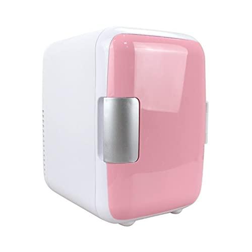 SKTE Congelatore per Auto Portatile Mini Frigorifero da 4 Litri Frigorifero per Auto A Doppio Uso per Auto Frigorifero da Viaggio per Frigorifero Portatile 12V (Color : Pink)