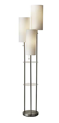 Adesso 4305-22 Trio Floor Lamp, 68.00 x 14.00 x 11.70 inches, Brushed Steel