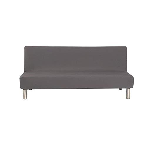 YuuHeeER 1 funda de sofá de color sólido para futón sin brazos, plegable, color gris