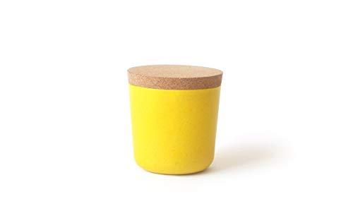EKOBO Vorratsdose S (250 ml), lemon / gelb, ø 8 x 8,5 cm, zur Aufbewahrung von Salz, Zucker, Tee, Gewürzen und mehr