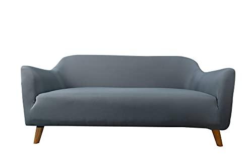 Sofá Grueso De La Cubierta Elástica del Sofá Que Puede Acomodar Fundas Tapizadas Sin-Almohadillas De Protección De Muebles De Espuma Antideslizante-4 Asiento-Gris Azul