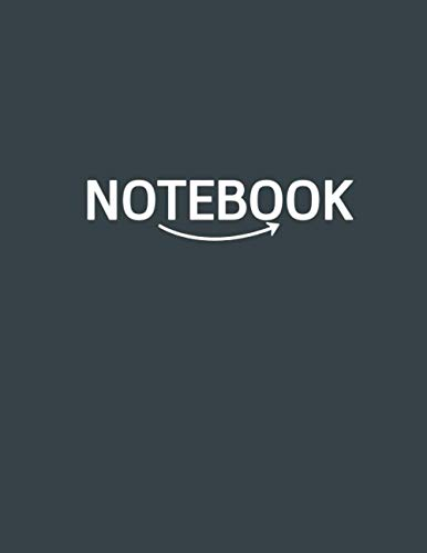 『Notebook : Plain Unruled Unlined Notebook Large size (8.5 x 11 inches) 120 Pages - Gunmetal Cover with text NOTEBOOK』のトップ画像