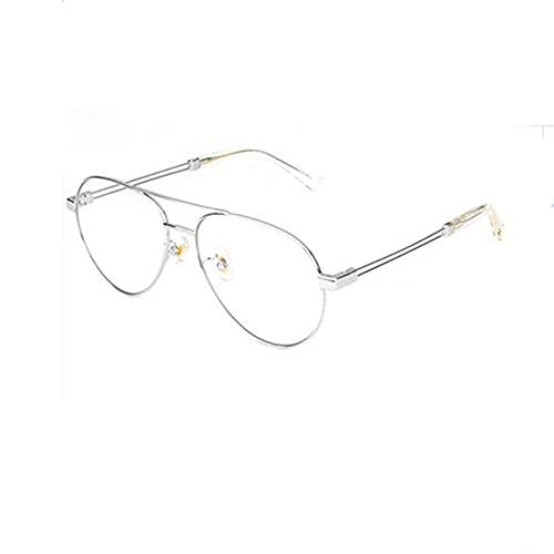LSJA0 gafas luz azul transparente anti-fatiga anti-uv ojo de ojo de pantalla plana gafas de pantalla-Plata