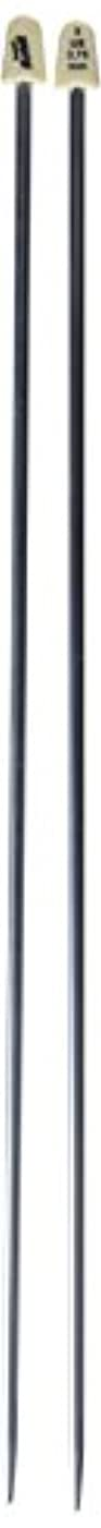 Susan Bates 11114-5 14-Inch Silvalume Single Point Knitting Needle, 3.75mm, Steel Grey