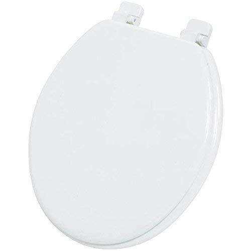 Do it Best WMS-17-B-W Home Impressions Round Wood Toilet Seat, White