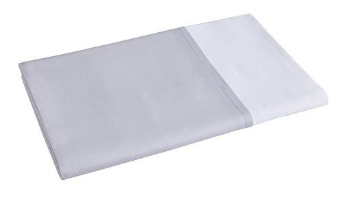 Blanc des Vosges Taie de traversin Amboise Metal 90 x 190 cm - Satin 100% coton