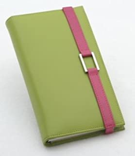 Amazon.com: Leather Agenda/Cheque Book Cover (Meadow Green ...