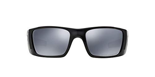Oakley Men's OO9096 Fuel Cell Rectangular Sunglasses, Polished Black Ink Frame/Black Iridium Polarized, 60 mm