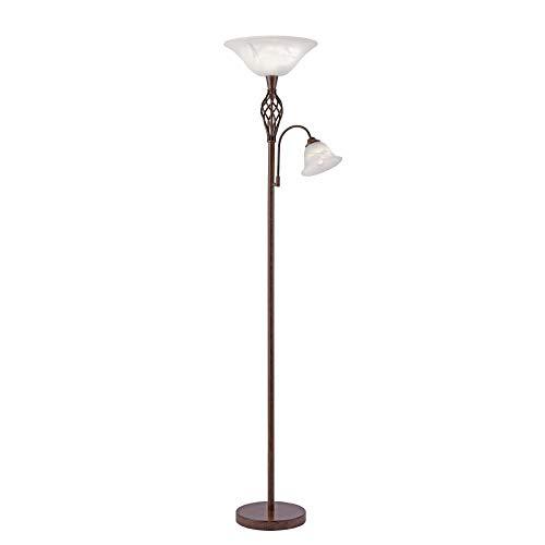 Deckenfluter, IP 20, Vintage, Stehlampe, Edel-Rost, Romantik, rustikal, LED fähig, E27/E14-Fassung max. 60/40 Watt
