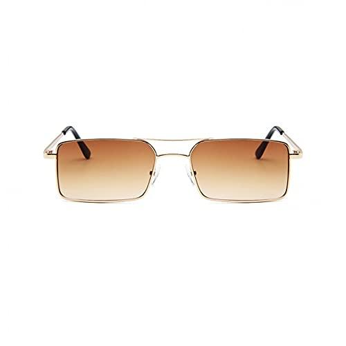 KUNIUO Gafas De SolPequeñas Retro paraMujer, Gafas Negras De Hip Hop Vintage para Mujer, Gafas De Sol Retro para Mujer, Gafas Uv400-NO.5