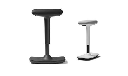 Trendoffice to-Swift Black, ergonomischer Stehsitz/Hocker mit Wippfunktion, Stehhilfe, schwarz, höhenverstellbar, modernes Design, Homeoffice, by Dauphin