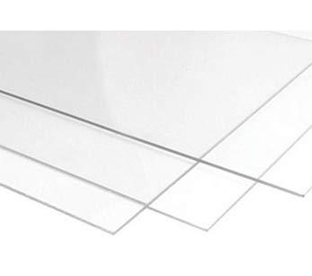 Signage.biz® - Materias primas - Lámina de policarbonato Plexi - Vidrio acrílico transparente - PMMA XT - Diferentes tamaños disponibles - 50 x 100 cm - Espesor 1.8 mm