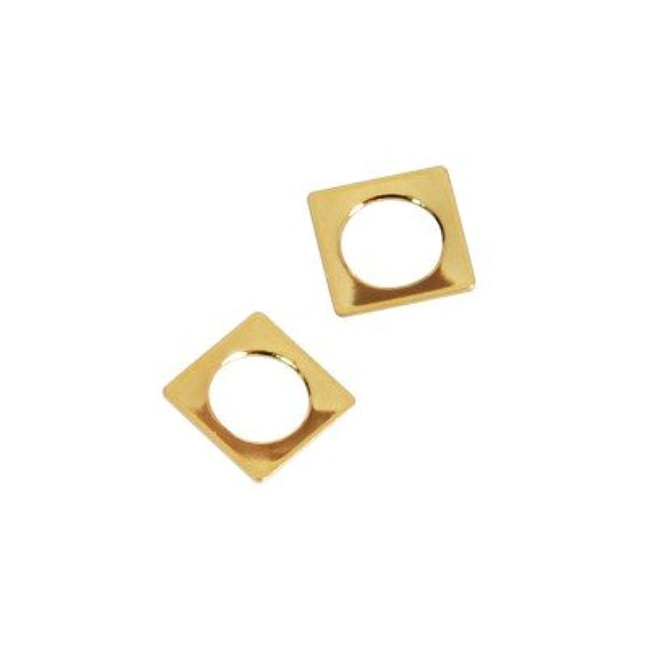 バズ強度カラスピアドラ スタッズ スクエア 中抜き(ラウンド)4mm 50P ゴールド