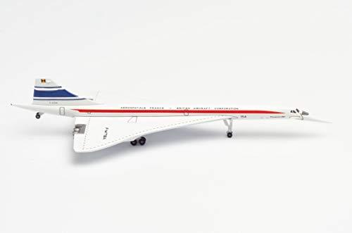 Aérospatiale France/BAC Concorde 50 Years en Miniatura para Manualidades y como Regalo